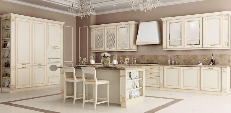 Новая кухня «Беатрис» из массива дуба белорусской фабрики Явид Yavid