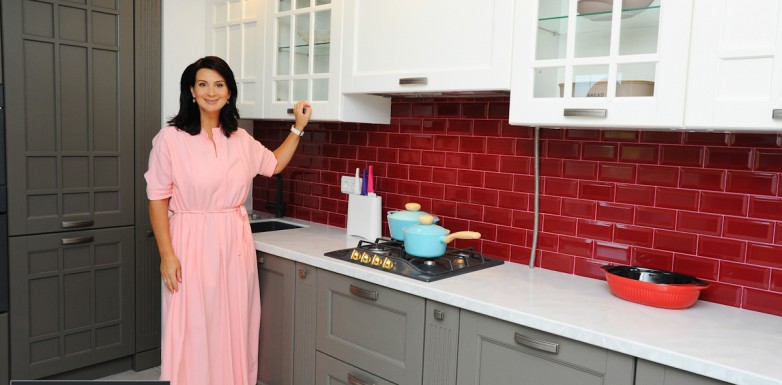 Кухня Верона из массива дуба от Yavid для Екатерины Стриженовой в передаче «Идеальный ремонт»